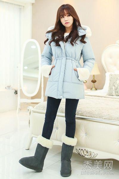 小清新风棉服 打造冬日唯美造型